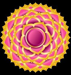 hindu chakra sahasrara medallion vector image