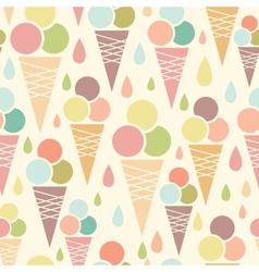 Ice cream cones seamless pattern background vector