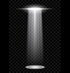 Abstract ufo background with bright beams isolated vector