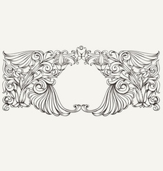 High ornate horizontal frame vector