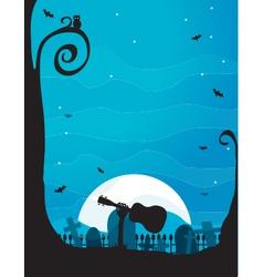 Ukulele Halloween vector image