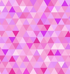 Seamless pattern pink triangle geometry mosaic vector