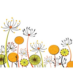 Flower heads vector
