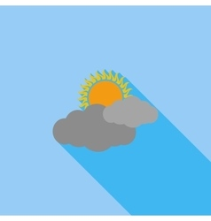 Cloudiness single flat icon vector