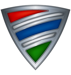 Steel shield gambia vector