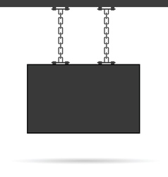 Signboard on chain vector