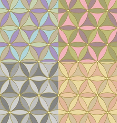 Pattern of hexagons vector