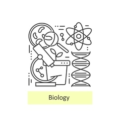 Modern thin line icons of biology vector