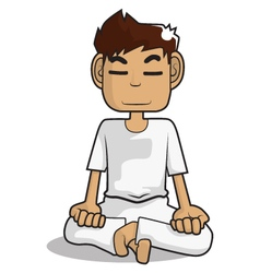 Meditation cartoon character vector
