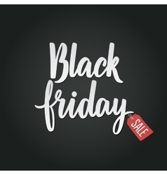 Black friday calligraphic advertising poster vector