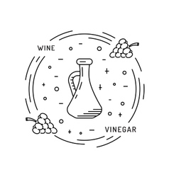 Wine vinegar sauce vector