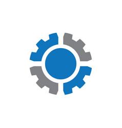 Abstract circle gear logo vector
