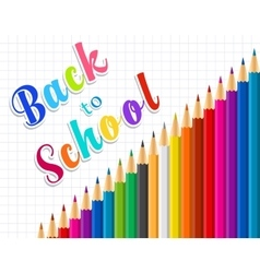 Back to school message on paper vector image vector image