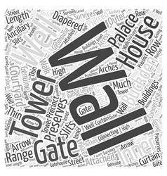 Buckden palace word cloud concept vector