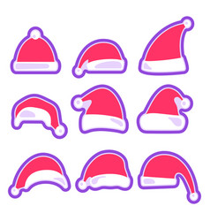 christmas hat isolated on white background vector image vector image