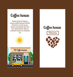 Coffee house vertical flyers vector