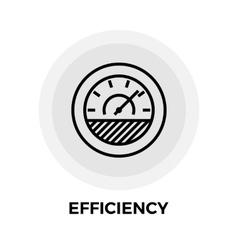 Efficiency line icon vector