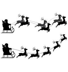Flying santa claus vector
