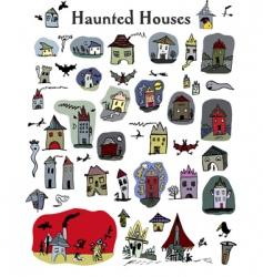 Hauntedhouses vector
