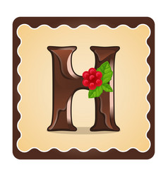 Letter h candies vector