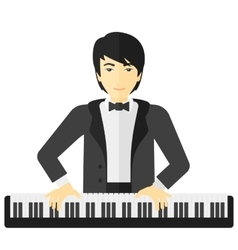 Man playing piano vector image