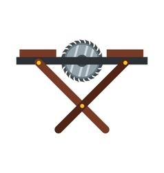 Movable circular saw icon flat style vector image vector image