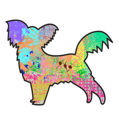 painted terrier vector image vector image