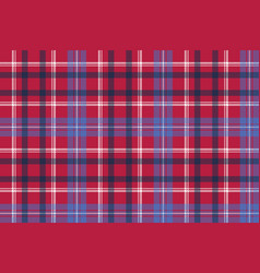 Red tartan pixel texture fabric plaid seamless vector