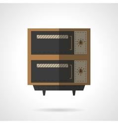Restaurant oven flat color design icon vector image