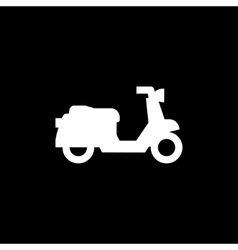 Retro scooter icon vector image