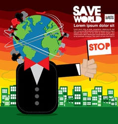Save World Conceptual EPS10 vector image vector image