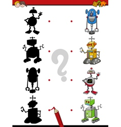 Shadows activity with robots vector