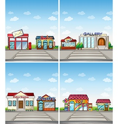Shops vector image vector image