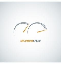 Speedometer design background vector