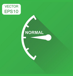 Speedometer tachometer fuel normal level icon vector