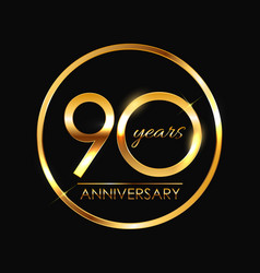 Template 90 years anniversary vector