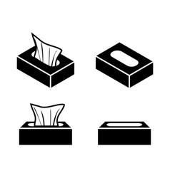 Tissue box icons in flat style design vector