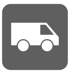 Van Flat Squared Icon vector image vector image
