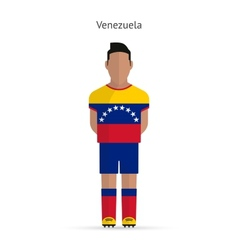 Venezuela football player soccer uniform vector
