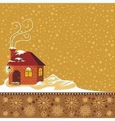 Winter decorative background vector