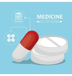 Medicine healthcare icon vector