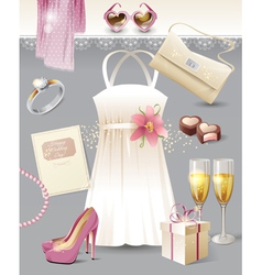 Vintage wedding vector