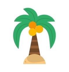green palm coconut beach island vector image