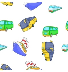 Vehicles pattern cartoon style vector