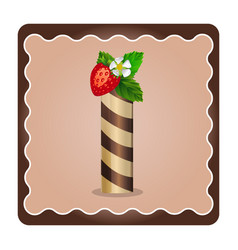 Letter i candies chocolate vector