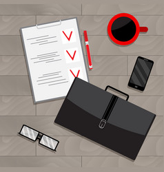 Business planning view top vector