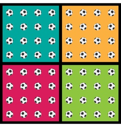 Seamless patterns with soccer balls vector