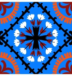 Suzani pattern with uzbek and kazakh motifs vector