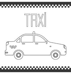 graphic yellow linear taxi car vector image