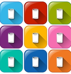 Buttons with cans vector